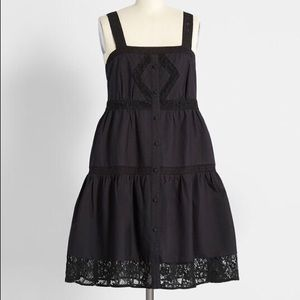 NWT Modcloth Black Sundress